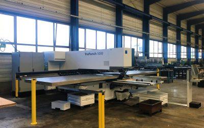 Une nouvelle poinçonneuse pour BTI-Bernard Tôlerie Industrielle à Reyrieux